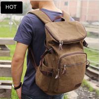 Mochila Homens Da Lona Men coffee canvas camping backpack large capacity hiking bag