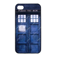 Police Box Hard Back Case Phone Cover Back Skin For Apple iPhone 4 4S