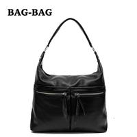 2014 New Women Large HOBO Genuine Leather handbag Fashion Messenger Cross-body Real Cowhide shoulder bag girl/ladies black B301