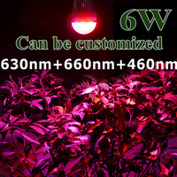 10X TOP Selling E27 6W/10W/14W Led Grow light Globe Lamp Bulb For flower  Hydroponics System In Outdoor Garden Plant  Lighting