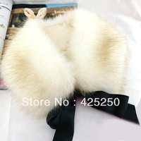 Hot ! Winter Grass Imitation Fox Fur Leather Necklace Fake Collar F5211