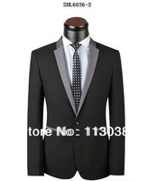 2014 New Design Top Brand Men Slim Woolen Coat Pant Suits Free Shipping