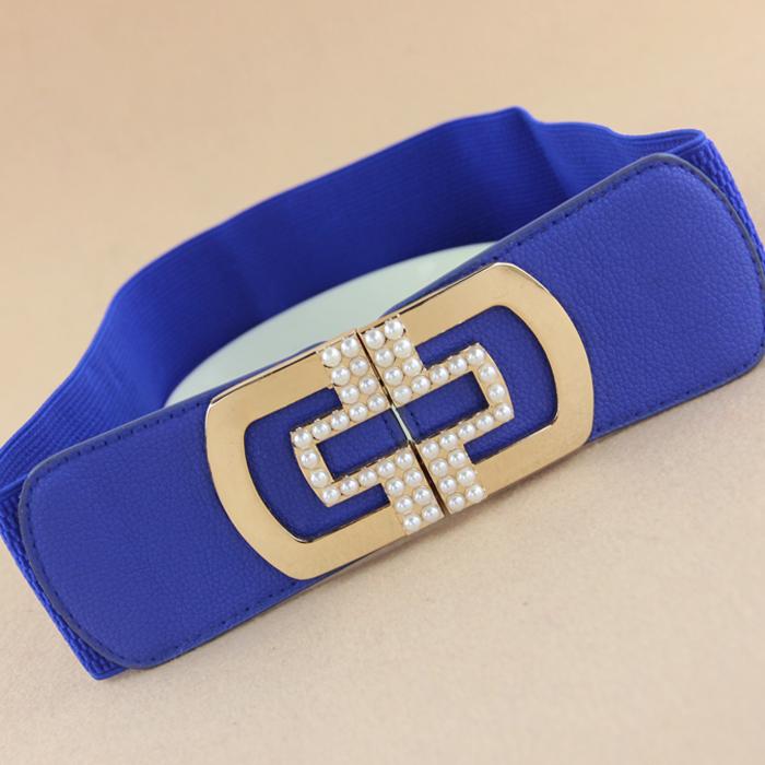 (Min order $10) Fashion set auger pearl down jacket belt(China (Mainland))