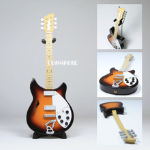 Rickenbacker George Harrison Beatles Brown Black Guitar Miniature Figure Toy Top Musical Instruments For Children Free Shipping(China (Mainland))