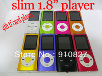 "New Slim 4TH 1.8""LCD digital Video Radio FM mp4 Player For 2GB 4GB 8GB 16GB SD TF Card with free shipping 100pcs/lot"