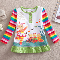 2013 new girls in the night garden spring and fall cotton o-neck t shirt children clothing free shipping
