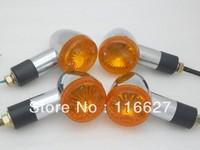 "4 x 2"" Chrome Bullet Big Turn Signal indicator for Suzuki Honda Shadow VT VTX Rebel Chopper freeshipping"