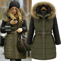 fur coat women European style women 's Cotton coats winter warm long coat jacket woman fashion 2015 Plus size clothing