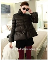 Free shipping 2013 winter new Korean fashion style skirt type A padded collar princess cape coat jacket E351