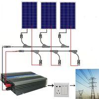 EU stock Large EU style 300W COMPLETE KIT: 3*100W 300 watt poly Solar Panel 12V on grid solar system no tax no duty