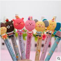 Novelty Colorful Romani Cartoon Animal Ballpoint Pen Soft Rubber Pen Promotional Gift Stationery Student Prize Wholesale