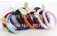 Free Shipping  20PCS Fashion Korean Women Multicolor Elastic Hair Band Rope Scrunchie Ponytail Holder