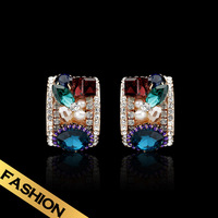 Special Stud earrings Vogue Personality Classic Zircon Luxury Vintage jewelry Free shipping New product  EH13A10198