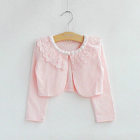 Free Shipping New Fashion 2014 Spring Princess Baby girls lace cardigan jacket long sleeve children's clothing Infant Baby Wear