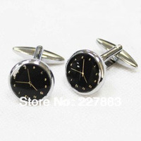 MOQ 50 pairs High quality Shirt cuff Cufflinks nail sleeve male brief clock cufflinks shirt sleeve men's gift free shipping