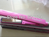 "2013 New Hot Seles Ceramic Hair Straightener Pro Nano 1 1/4"" Titanium Plates Flat Iron Hair Straightening Iron Pink"