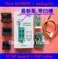 free shipping 24 25 93 serise IC VGA wire brush New RT809F LCD ISP programmer with 4 adapters + ICSP board /ISP cable
