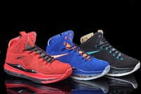 Free Shipping lebron 10 true red black blue Cork QS sportwear 2013 for sale Cheap X EXT Elite basketball mens lbj us8-13