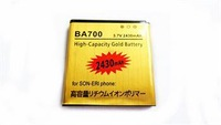 New 2430MAH 3.7V Li-ion High-Capacity Gold Battery Replacement For Sony Ericsson BA700 E0020 Free Shipping