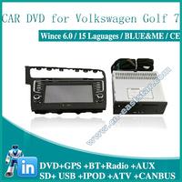 Car DVD for VW GOLF 7 GPS DVD BT RADIO USB AUX SD IPOD audio video player Free shipping  1400