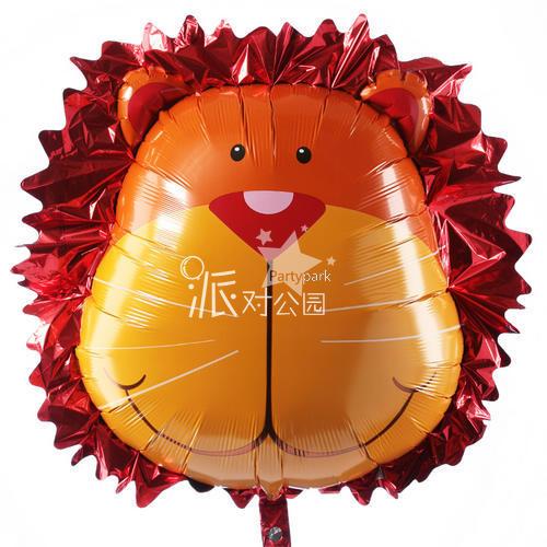 frete grátis cabeça de leão balão da folha de alumínio fontes do partido de aniversário anagrama fontes do partido do balão(China (Mainland))