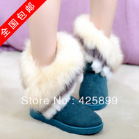 FREE SHIPPING 2013 female now boots  autumn winter women's cotton-padded shoes winter boots platform flat heel boots