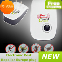 NEW ! electronic pest repeller 90-250V with EU plug Insect Mouse Ultrasonic Mosquito mosquito repeller  free shipping wholesales