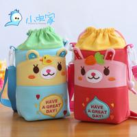 Cute Cartoon Child Insulation Bags Winter Thermal Bottle Bag Fabric Baby Feeding Bottle Bag 225