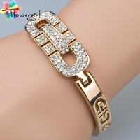 2014 (Mix order)Charm Design 18K Gold With Rhinestone Bangles For Women[3263-A17]