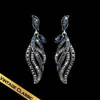 Special Earrings Classic Original Feather shape Pendant Vintage New Style Jewelry Free Shipping EH13A12078