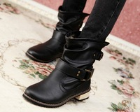 Retail winter shoes new arrival women's boots naked flat martin boots motorcycle boots fashion ladies shoes warm shoes for women