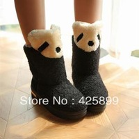 Thick winter cartoon panda snow boots platform boots