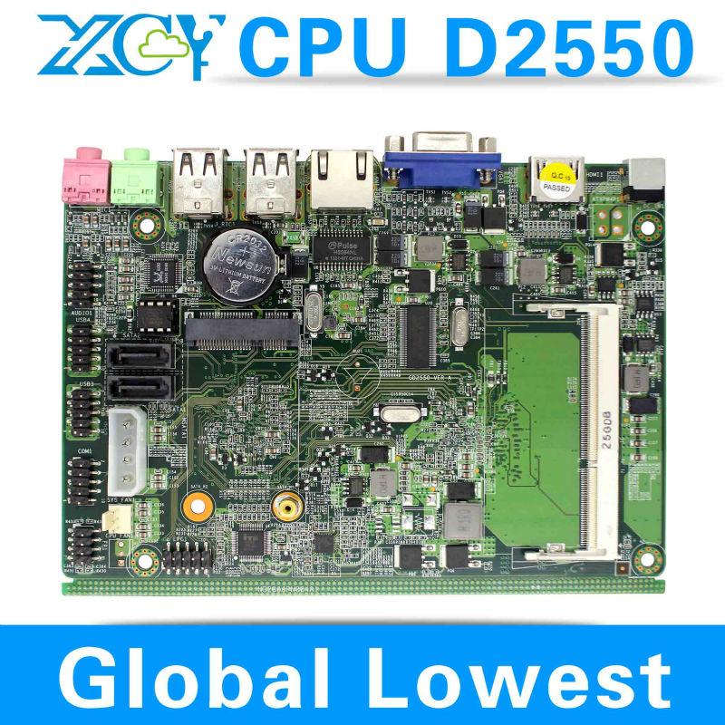 Factory price! hot selling! Intel atom D2550 fanless mini itx motherboard, atom D2550 motherboard, Desktop motherboard(China (Mainland))