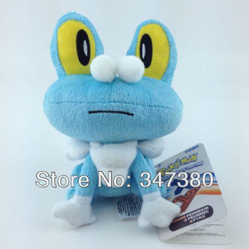 20pcs/lot High Quality Pokemon Collectibles Froakie blue Frog plush dolls Stuffed Animal Toys Free Shipping(China (Mainland))