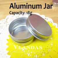 50Pcs/Lot 18ML 38*20mm Aluminum Cosmetic Box Cream Jar Wholesale Free Shipping