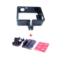 F05443-B Standard Border Frame Mount + Buckle Basic Strap Mount Helmet Curved Adhesive Mount for GoPro HD Hero 3 + freeshipping