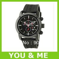 Post free shipping hot sale BU7700 men's sport watch Chronograph black rubber Watch Wristwatches+original box
