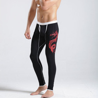 Low-waist male long johns thin modal long johns male underpants men's warm legging pants
