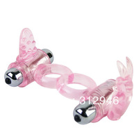 Baile 10 Speed Bunny Snuggles Cock Clit ring Powerful Vibrating Bullet with Penis Ring 014079