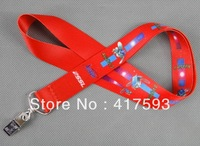free shipping custom 25MM width red color neck lanyard with flex logo imprint dye sublimation cheap exhibition neck straps