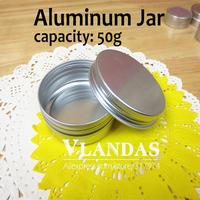 50Pcs/Lot 50ML 70x28mm Aluminum Cosmetic Box Cream Jar Wholesale Free Shipping