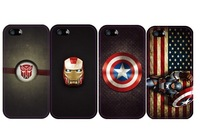 Exclusive iron man Captain America plastic Case for iPhone 4 4S 5 5S