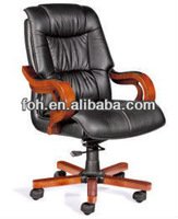 Executive Leather Office Desk Chair  Discount Black Manager Leather Chair (XUDONGSHEN-B19#) Free Shipping