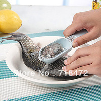 Free Shipping New Easy Fish Scale Stripper Scraper Remover cleaning Cleaner scale shaver Descaler Skinner Scaler Kitchen tools
