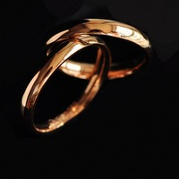 Free Shipping Plain Glossy Yeh Rose Gold Titanium Elegant Lovers Ring Wedding Chinese Style Cute Floral Bandage Chiffon Bodycon