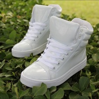 Free Shipping,2013 Fashion 8 color Patent Leather Casual Shoes for Street Dancer Women and Men Sneakers/free shipping