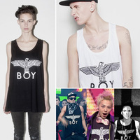 Men's sleeveless  long design loose vest HARAJUKU Men and women Vests