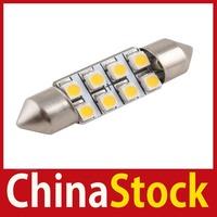 [ChinaStock] 2X 36mm Car Auto Interior 8 LED 3528 SMD Light Warm White Festoon Dome Lamp Bulb wholesale