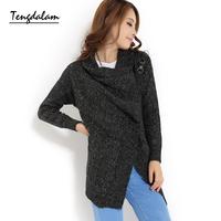 Tengdalam2013 women's long-sleeve sweater mantissas sweater cardigan outerwear