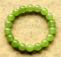 Free Shipping,Natural Olive Chalcedony Bracelet Green Olive Fashion Small Fresh Accessories 6mm-10mm /3 standard,With Box